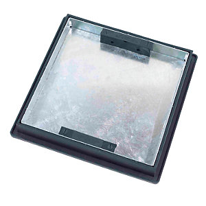 Clark-Drain Galvanised Steel 5 Tonne Manhole Cover and Frame Sealed Block Paviour Recessed Tray 450mm x 600mm