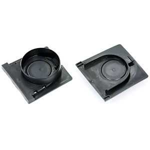 Clark-Drain New Style Plastic Channel End Cap and Outlet Set 128 x 117mm