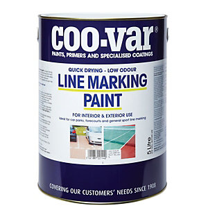 Coo-var Low Odour Line Marking Paint Yellow 5L