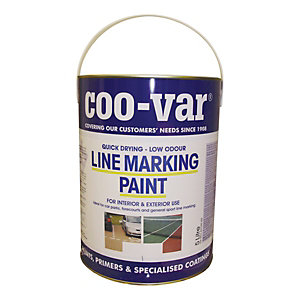 Coo-var Low Odour Line Marking Paint White 5L