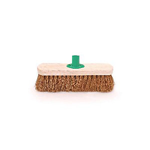 4Trade Coco Broom Head With Collar 12in