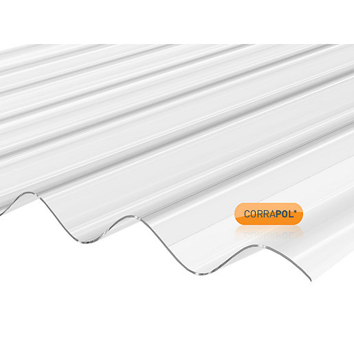 Clear Amber Corrapol Clear Corrugated Sheet 840mm x 1830mm