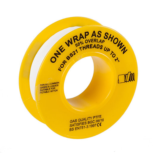 BOSS PTFE Gas Thread Sealing Tape 12mm x 5m 10PK
