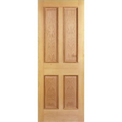 Hardwood Oak Devon 4 Panel Raised Mouldings Internal Door Travis