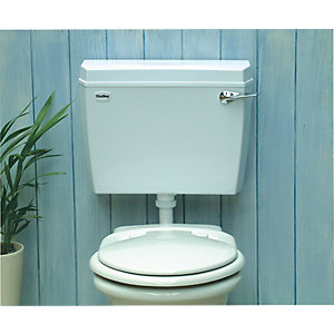 Dudley Acclaim Cistern Low Level Lever SIDO White (Cistern Only)
