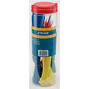 4Trade Assorted Nylon Cable Ties Pack of 650