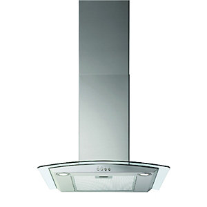 Wickes 60cm Curved Glass Designer Cooker Hood