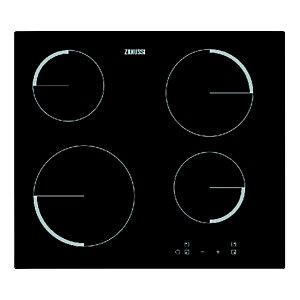 Zanussi ZEV6240FBA 4 Zone Ceramic Hob Black 600mm