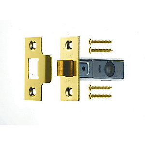 4Trade Tubular Latch Brass 76mm