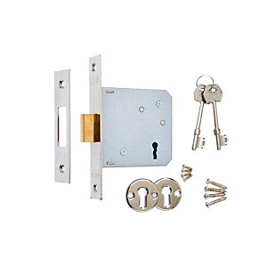 3 x 4Trade 3 Lever Sashlock Chrome 64mm