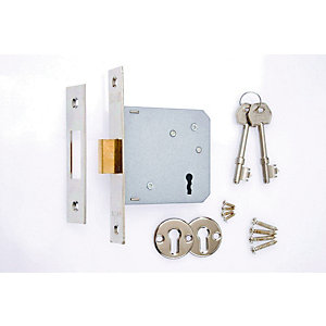 5 x 4Trade 3 Lever Sashlock Chrome 76mm
