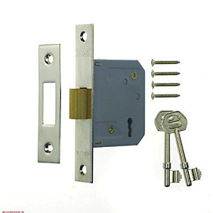4Trade Mortice Deadlock 3 Lever 64mm Chrome
