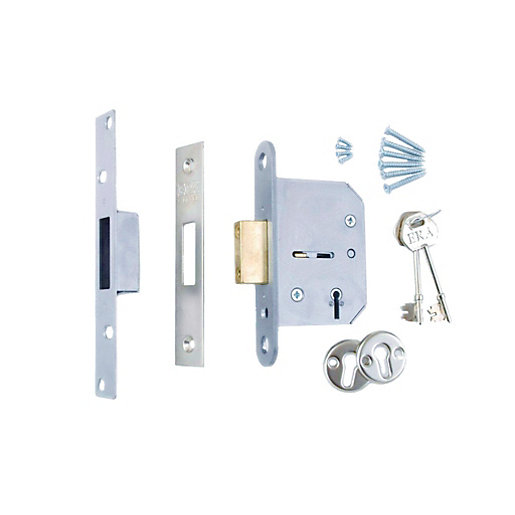 5 x 4Trade 5 Lever Deadlock Satin 64mm