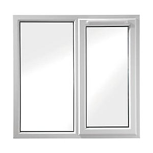 UPVC White Window Right Hand Shield 6  1190mm x1190mm