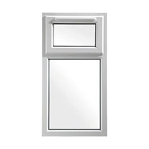 UPVC White Window 2 Pane Shield 6  610mm x 1190mm