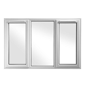 UPVC Window 3PCase SHD6 White 1770mm x 1190mm