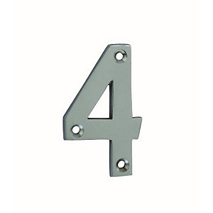 4Trade Door Number 4 Chrome Plated 75mm