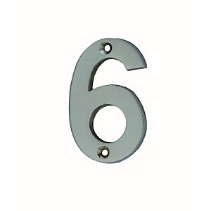 4Trade Door Number 6/9 Chrome Plated 75mm