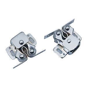 4Trade Roller Catches Double Zinc Plated Pack of 2
