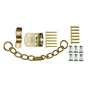 4Trade High-security Door Chain Brass (for Use with PVC & Timber)