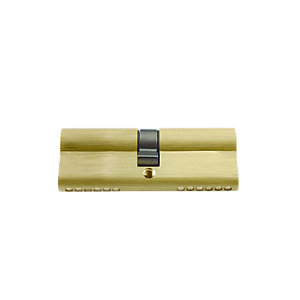 4Trade Double Cylinder Euro Profile 40 x 40mm Brass