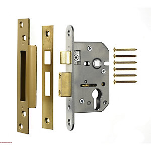 4Trade Euro Profile Sashlock Brass 76mm