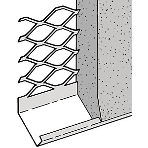 Expamet External Stainless Steel Render Stop Bead 20mm x 3m (Minimum Order Quantity : 3)