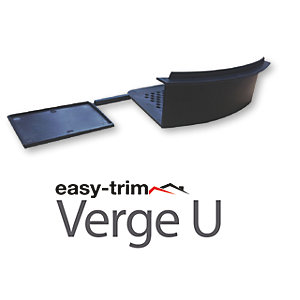 Easy Trim Easyverge Starter And End Cap Grey - Pack Of 2