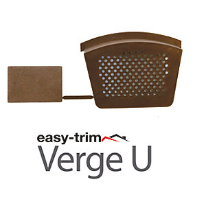Easy Trim Easyverge Starter And End Cap Brown - Pack Of 2