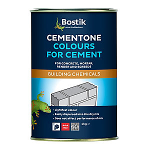 Cementone No1 Red Colour For Cement Brick 1kg - Case of 6