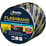 Evo-stik Flashband Self Adhesive Flashing Tape Grey 100mm x 10m - Pack of 3