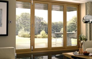Charmant Eden Oak Folding Patio Doors