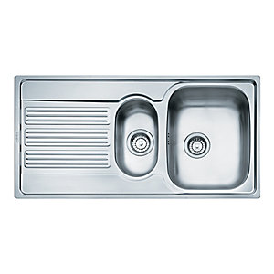 Franke Galileo 1.5 Bowl Kitchen Stainless Steel Sink & Drainer