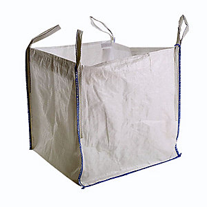 Plain White 4 Loop Bulk Bag 850 x 850 x 850mm