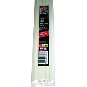 4Fire Intumescent Fire Seal White 10x4mm Single Door Pack - Pack of 5