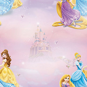 Disney Pretty as a Princess Decorative Wallpaper Multi