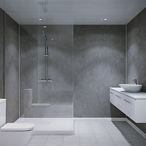 Multipanel Unlipped Shower Panel Cool Mica 826 2400mm