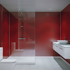 Multipanel Hydrolock Shower Panel Red Pearl 2400mm