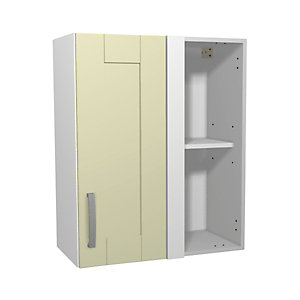 Ohio Cream Kitchen Corner Wall Unit 600mm