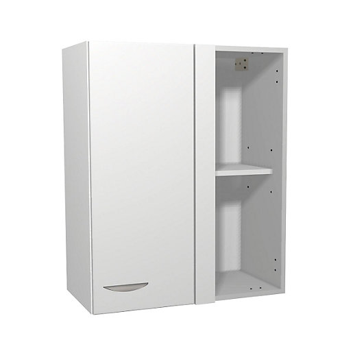 Dakota Matt White Kitchen Corner Wall Unit 600mm