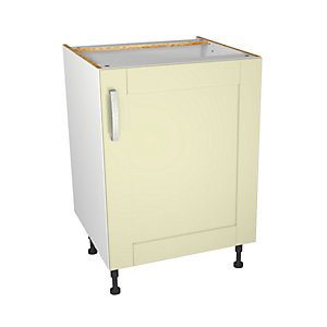 Ohio Cream Kitchen Base Unit 600mm