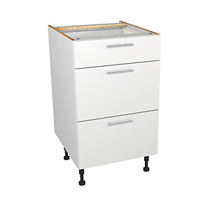 Orlando White Gloss Kitchen Drawer Unit 500mm