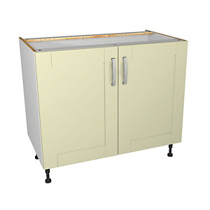 Ohio Cream Kitchen Base Unit 1000mm