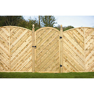 Bradville Curved Gate 1800 mm x 900 mm