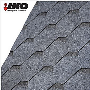 IKO Armourshield Roofing Shingles Hexagonal Tile (3m2) Granite Grey