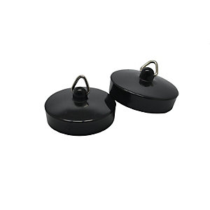 4 Trade 1-3/4in Black Bath/Sink Plug Pack of 2