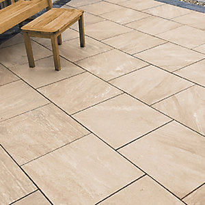 Vitripiazza Anno Porcelain Biscotto Paving Slab 600mm x 600mm x 18mm - Pack of 64