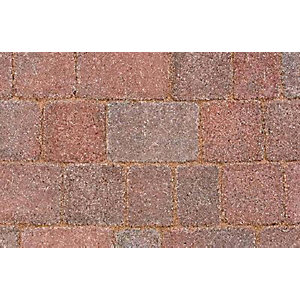 Marshalls Drivesett Tegula Original Red/Charcoal Block Paving 120mm x 160mm x 60mm - Pack of 492
