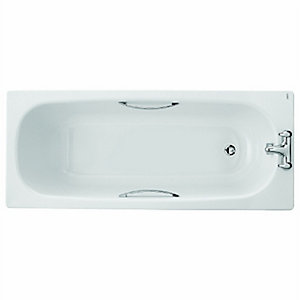 Twyford Celtic Steel Bath Only 1700 Twin Grip BL1522WH