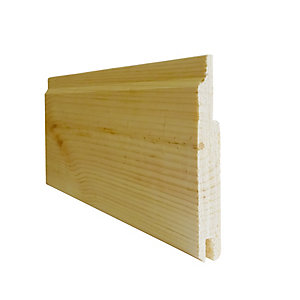 Pine Reversible Cladding 12mm x 88mm - Scotland Only